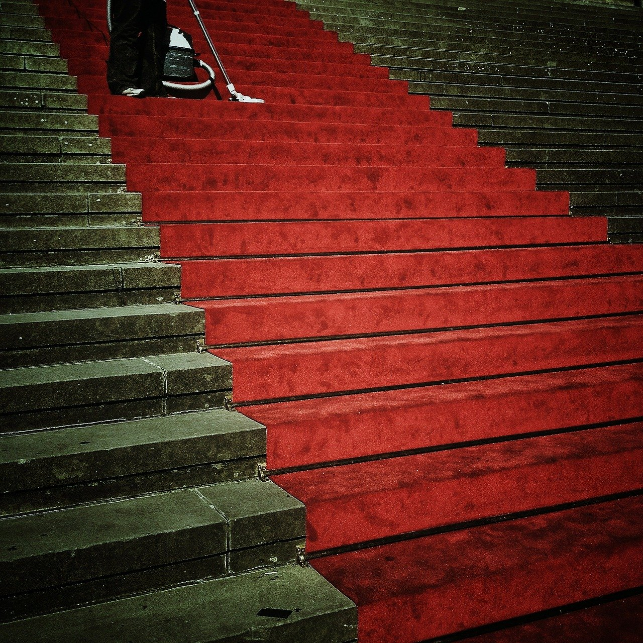 Red carpet stairs